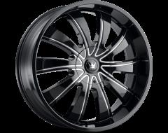 Mazzi Wheels ROLLA 374 Black Milled Spokes