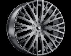 Mazzi Wheels TWIST TIE 373 Matte Black with Machined Dark Tint Lip