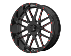 MSA Wheels M35 BANDIT Gloss Black with Milled Red Tint