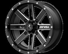 MSA Wheels M41 BOXER Gloss Black Milled Spokes