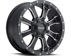 Raceline wheels 927M Mamba Satin Black with Machined Accents