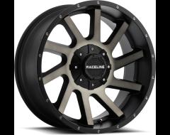 Raceline wheels 932DM Twist Satin Black Clear Coated