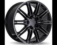 Replika Wheels R158 Gloss Black with Machined Lip
