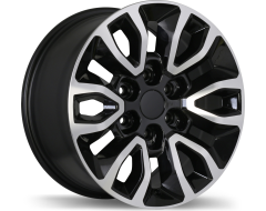 Replika Wheels R174 Gloss Black with Machined Face