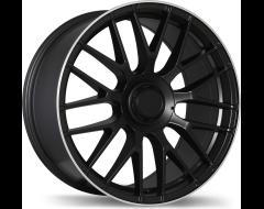 Replika Wheels R183 Matte Black with Machined Lip