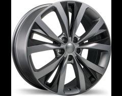 Replika Wheels R201 Matte Gunmetal with Matte Black Inserts