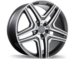 Replika Wheels R210 Gloss Gunmetal with Machined Face
