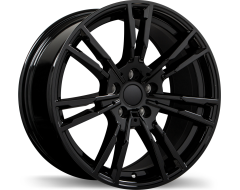 Replika Wheels R231 Gloss Black with Machined Face