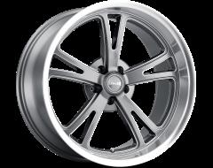 Ridler Wheels 606 Grey with Milled Spokes Diamond Lip