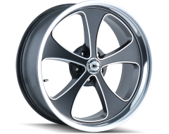 Ridler Wheels 645 Matte Black Machined Face and Polished Lip