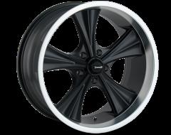 Ridler Wheels 651 Matte Black Machined Lip