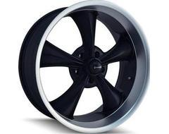 Ridler Wheels 695 Matte Black Machined Lip