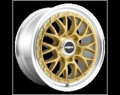 Rotiform Wheels R156 LSR Matte Gold Machined