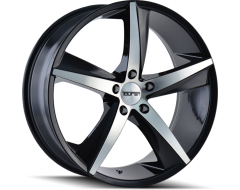 Touren Wheels TR72 3272 Gloss Black Machined Face