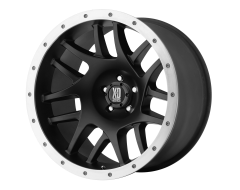 XD Series Wheels XD123 BULLY Satin Black with Removable Aluminum Ring