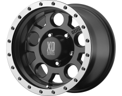 XD Series Wheels XD125 Matte Black with Machined Reinforced Ring