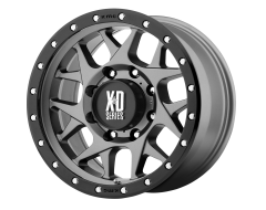 XD Series Wheels XD127 BULLY Matte Grey Black Ring