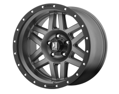 XD Series Wheels XD128 MACHETE Matte Grey Black Ring