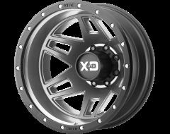 XD Series Wheels XD130 MACHETE DUALLY Matte Grey Black Ring