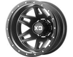 XD Series Wheels XD130 MACHETE DUALLY Satin Black with Reinforcing Ring