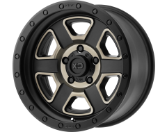 XD Series Wheels XD133 FUSION OFF-ROAD Satin Black with Machined Dark Tint Clear Coat