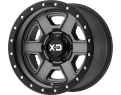 XD Series Wheels XD133 FUSION OFF-ROAD Satin Grey with Satin Black Lip