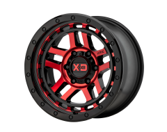 XD Series Wheels XD140 RECON Gloss Black with Machined Red Tint